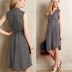 ANTHROPOLOGIE 11 1 Tylho Gingham dress size L